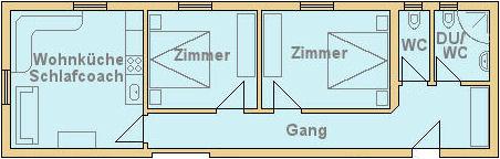 Fehlehof Appartement Aschau im Zillertal - Appartement 1 4-6 Personen